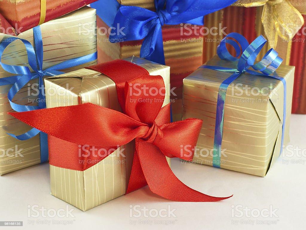 Various gift boxes on white royalty-free stock photo