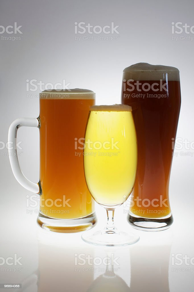 Various glasses of different beers royalty-free stock photo
