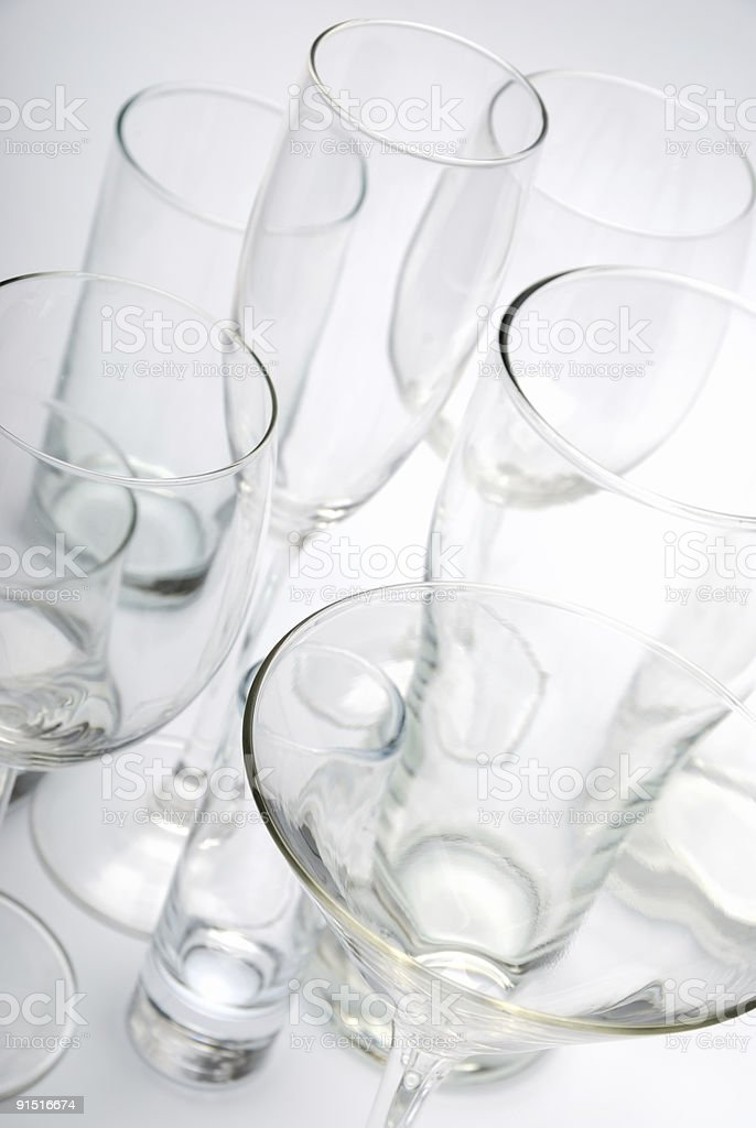 Various glasses royalty-free stock photo
