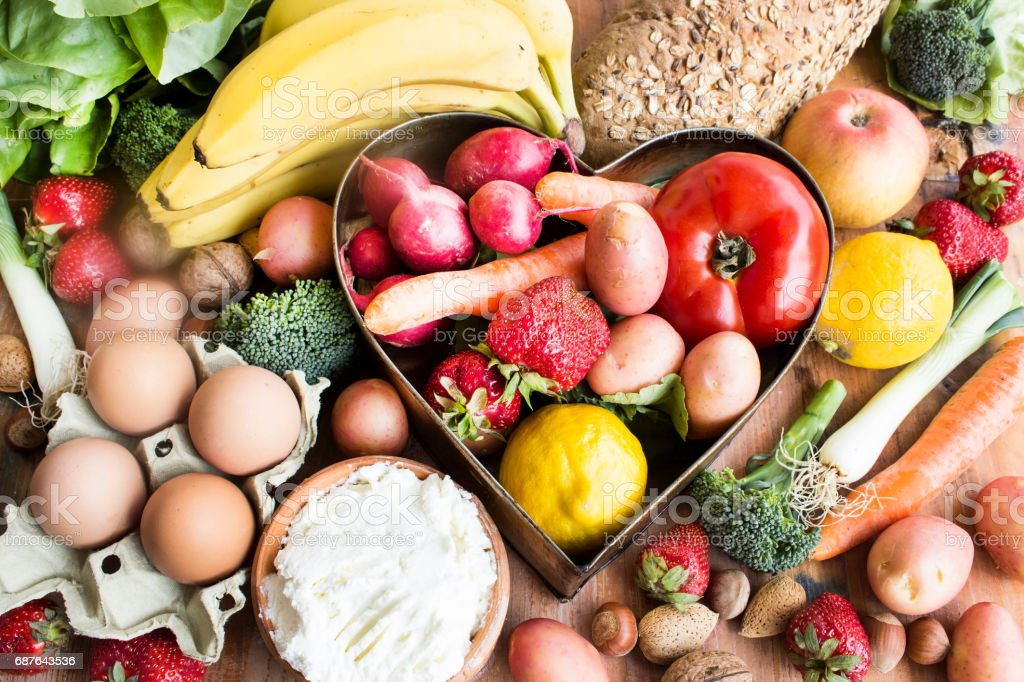 Various Healthy Food stock photo