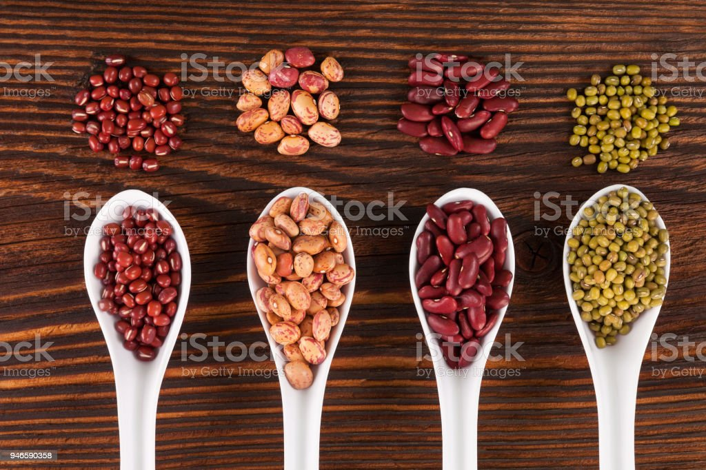 Various Healthy legumes stock photo