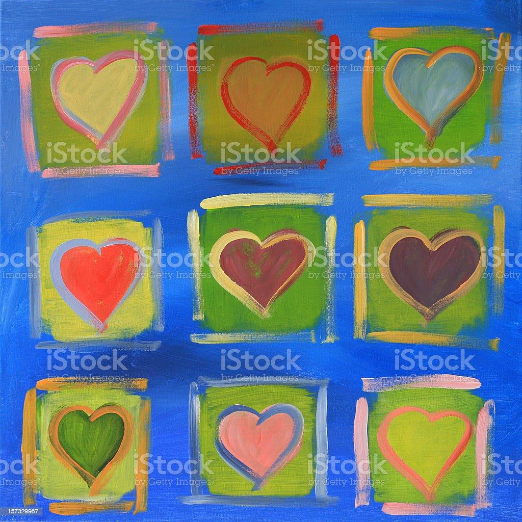 Various hearts royalty-free stock photo