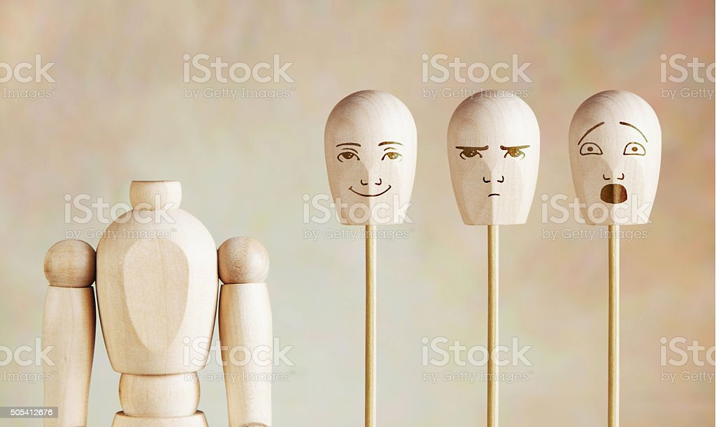 Various human emotions and mood stock photo