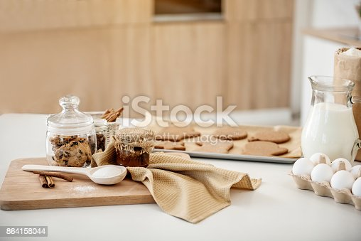 Various Ingredients For Baking Pastry Stock Photo & More Pictures of Baked Pastry Item