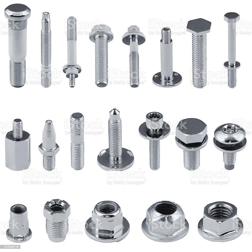 Diversi tipi di dispositivi di fissaggio dadi bulloni viti - Diversi tipi di trecce ...