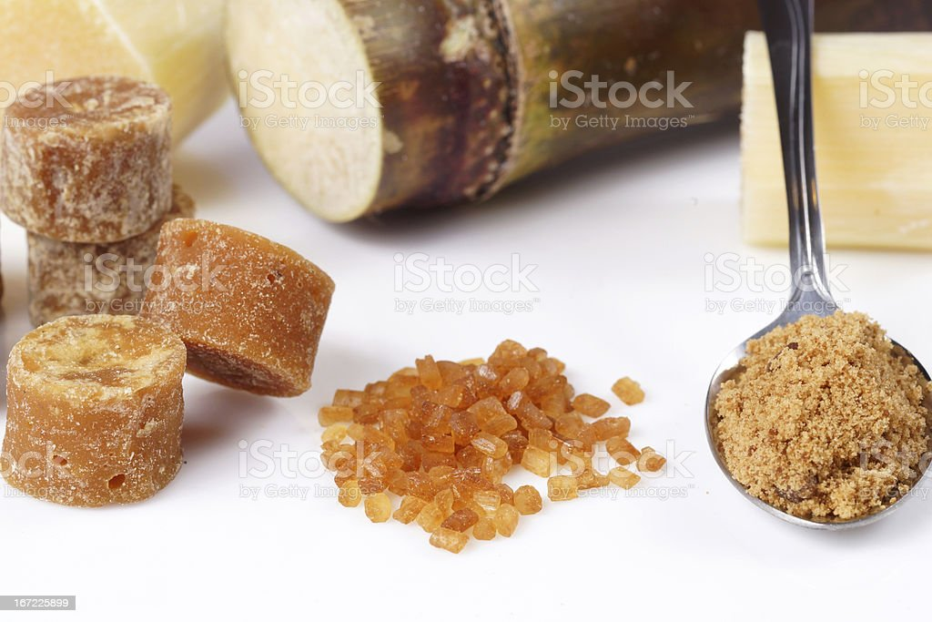 Various kinds of sugar royalty-free stock photo