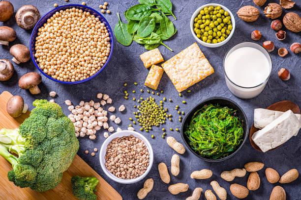 różnego rodzaju wegańskie źródła białka - białko zdjęcia i obrazy z banku zdjęć