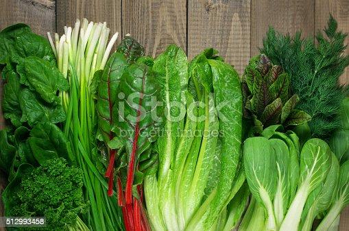 istock Various leafy vegetables 512993458
