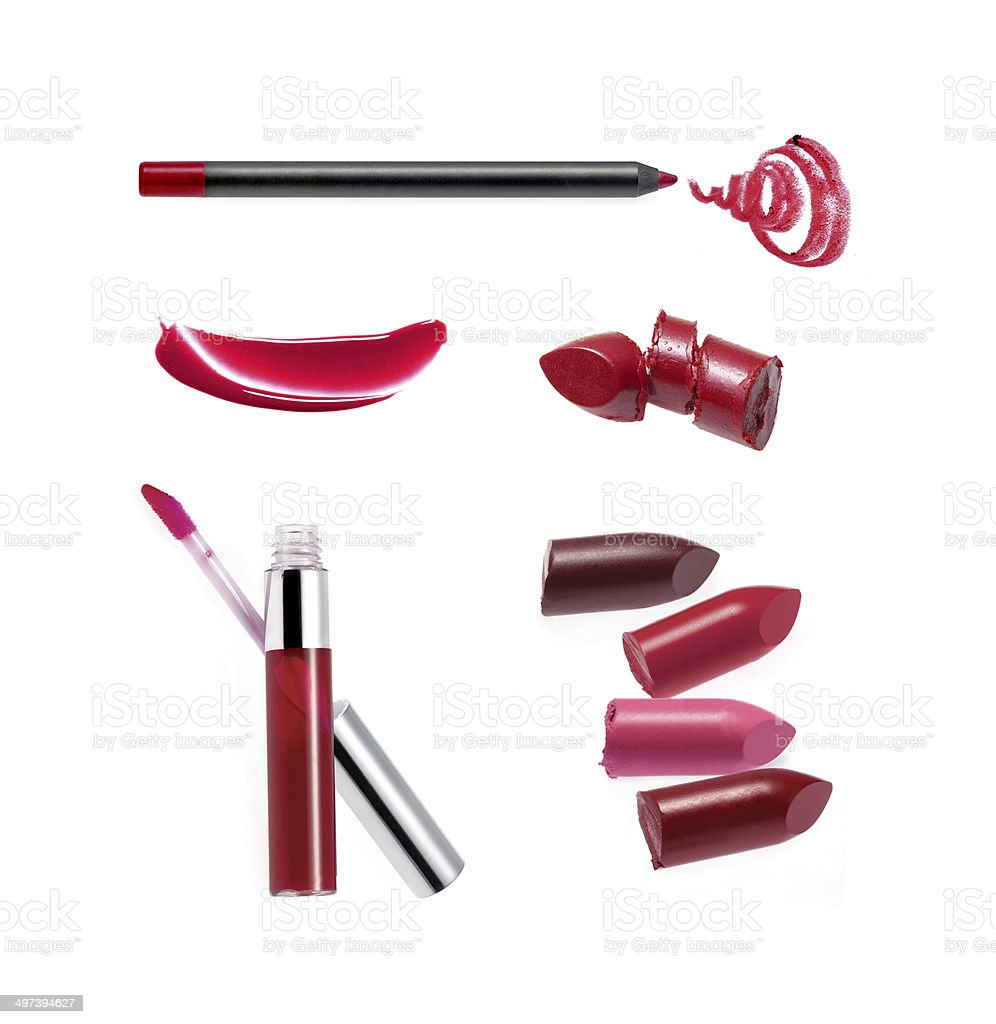 Various lipstick sample stock photo