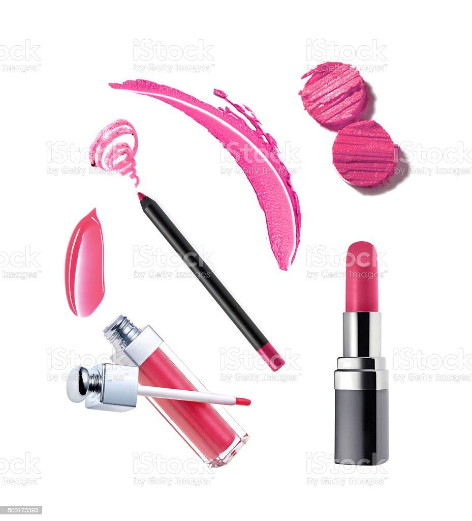 Various lipstick sample stock photo