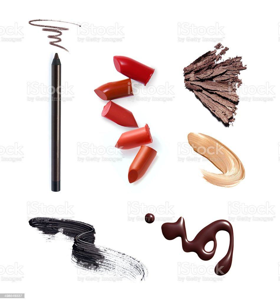 Various make-up and cosmetics products stock photo