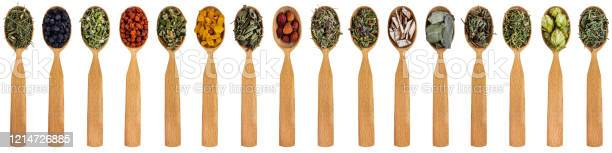 Various medicinal herbs in wooden spoons isolated on a white and picture id1214726885?b=1&k=6&m=1214726885&s=612x612&h=rmhagbdvurobfqlguhwhoyepvb8yaxr yvb4 bywvnm=