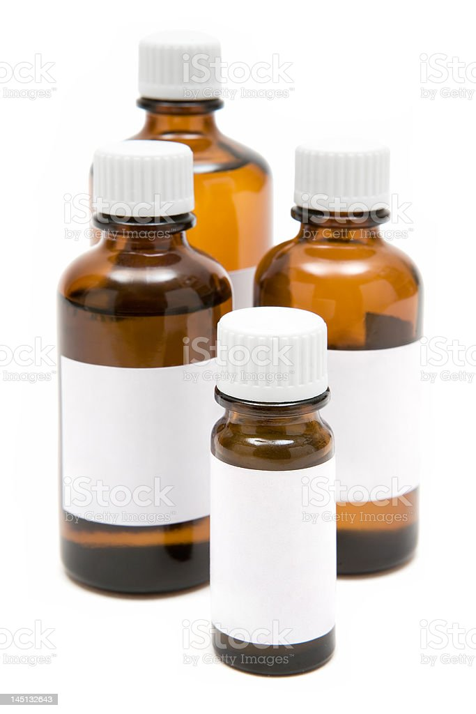 Various Medicine Bottles stock photo