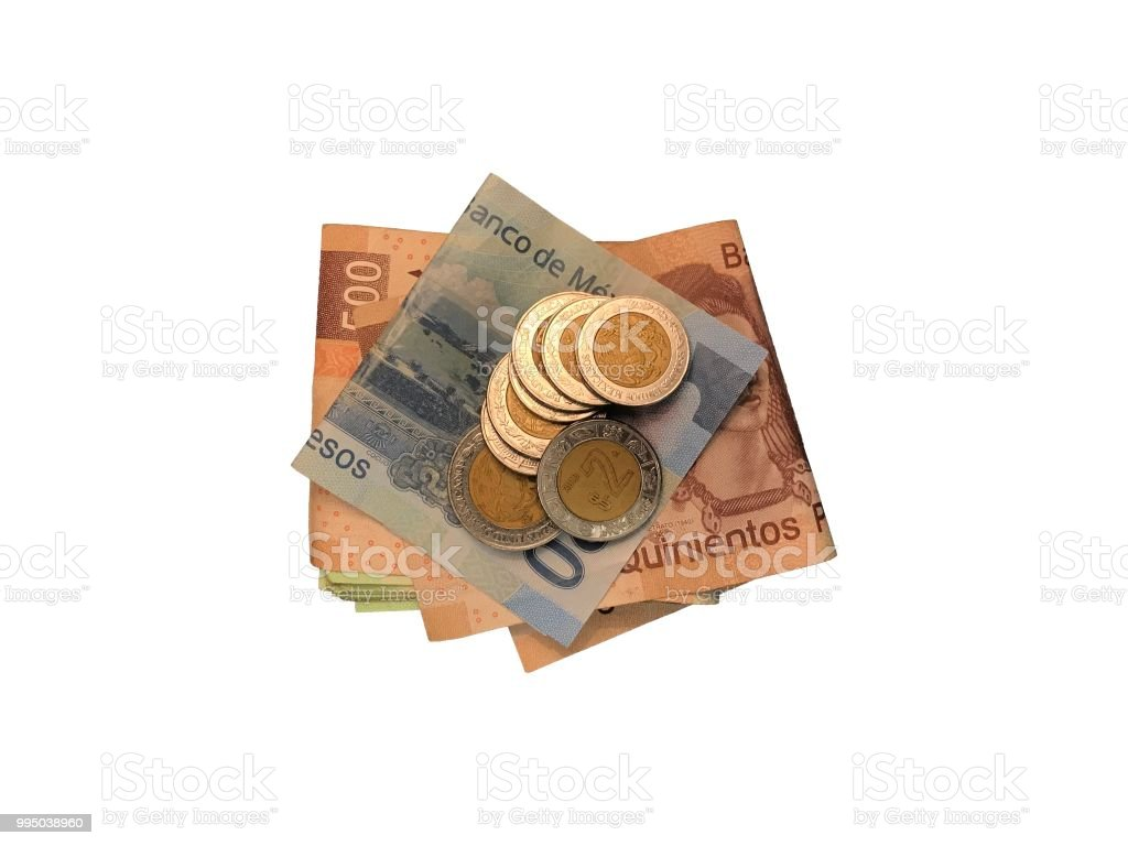 Various Mexican Coins On Top Of Some Peso Bills Of 20 100 200 And Images, Photos, Reviews