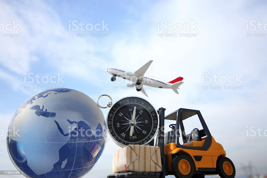 Various modes of transportation for global stock photo