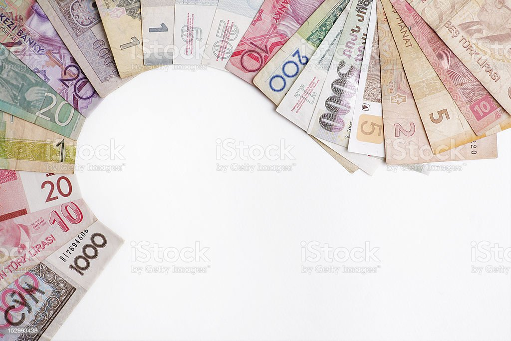 Various money royalty-free stock photo