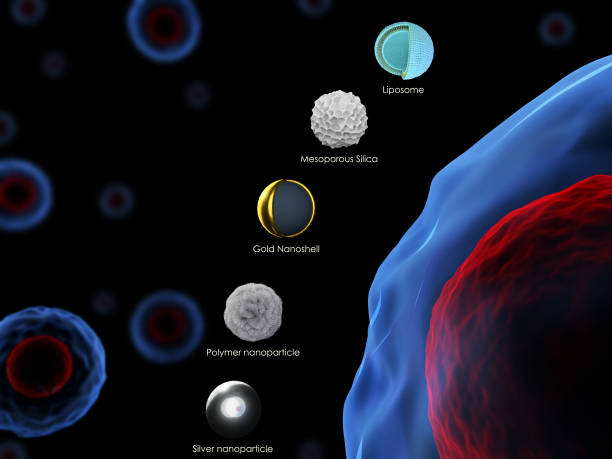 Various nanoparticles stock photo