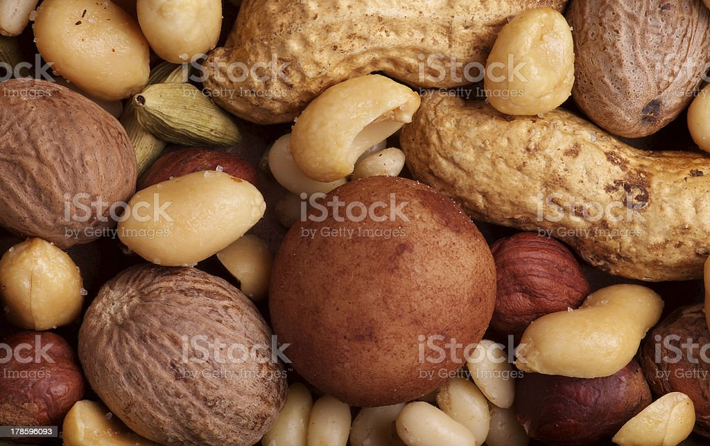 Various Nuts Background royalty-free stock photo