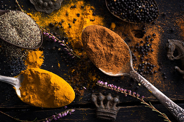 Various of spices stock photo