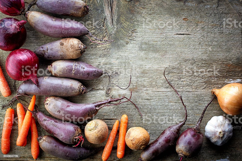 Various organic vegetables stock photo