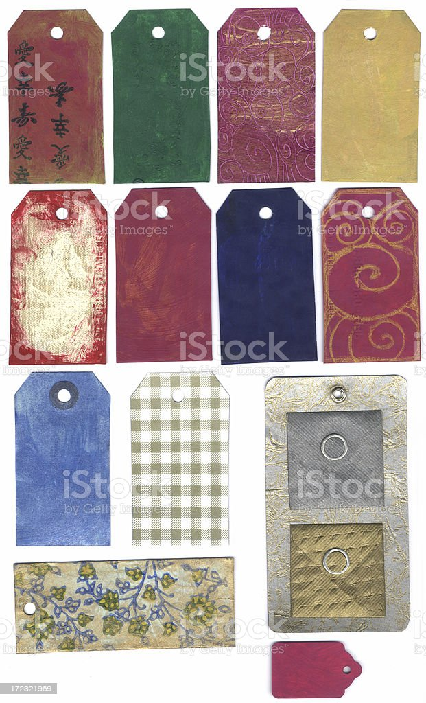 Various Painted Tags royalty-free stock photo