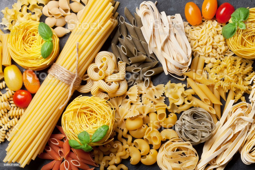 Various pasta stock photo