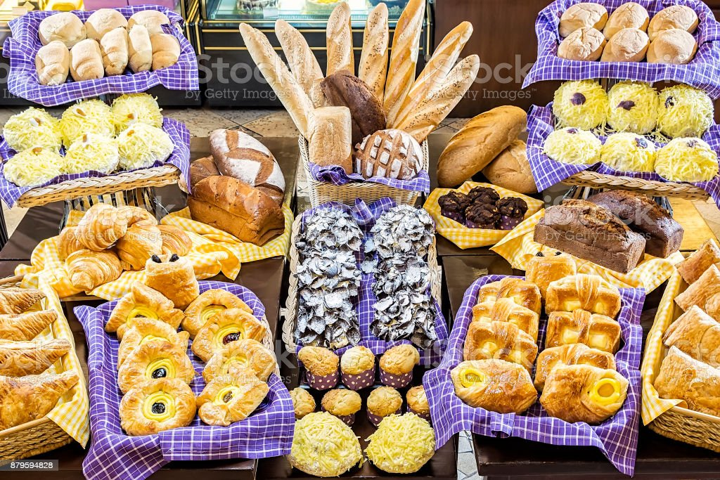 Various Pastries stock photo