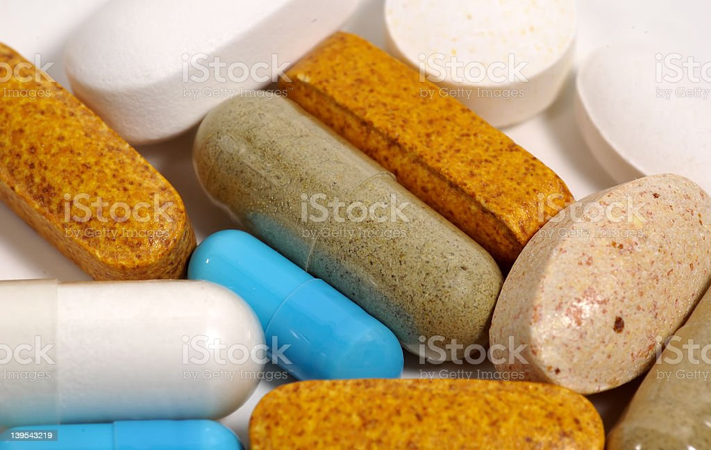 Various Pills royalty-free stock photo