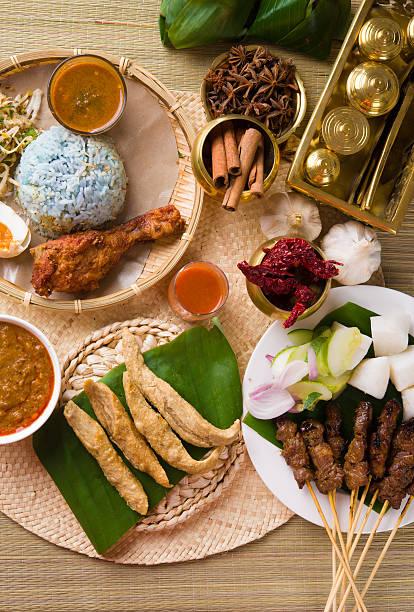 Vários popular Malásia comida para o Ramadã, hari raya aidilfitri - foto de acervo