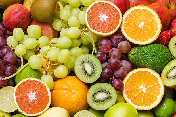 Various ripe fruits for eating healthy - foto de acervo