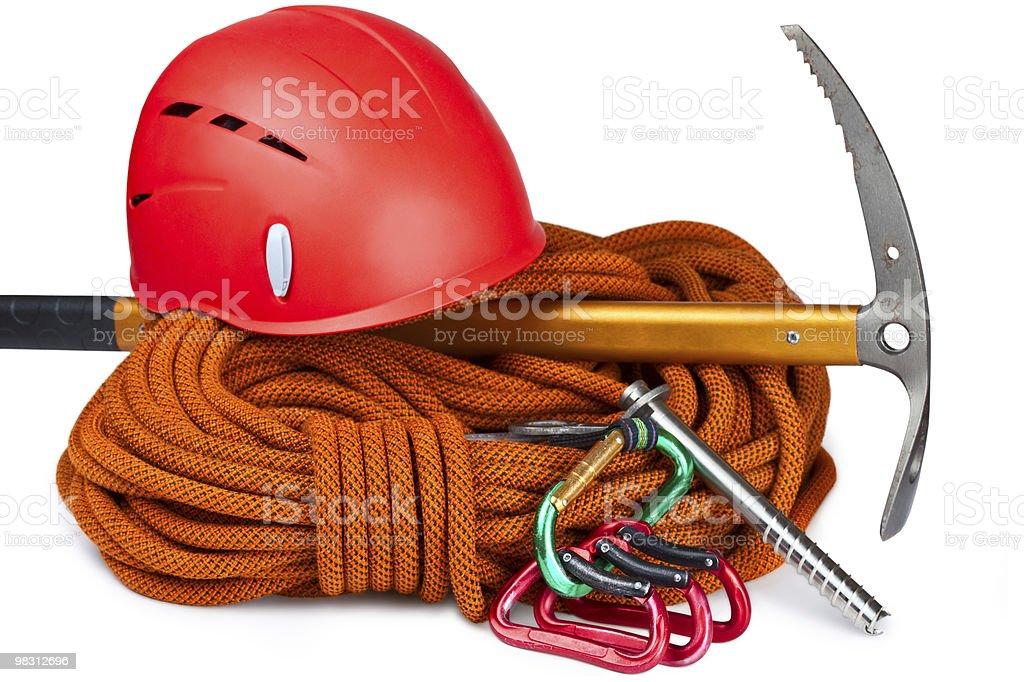 Various rock climbing equipment royalty-free stock photo