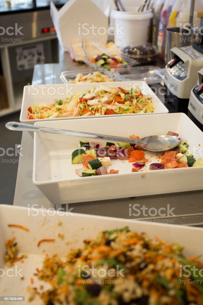 Various Salad stock photo