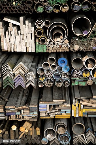 istock various shape industrial steel products of metal profiles and tubes 1062192792