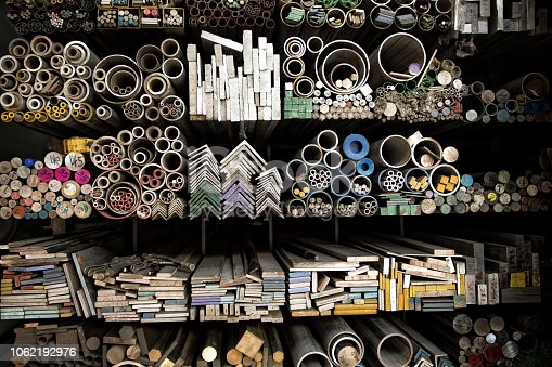 istock various shape industrial steel products of metal profiles and tubes 1062192976