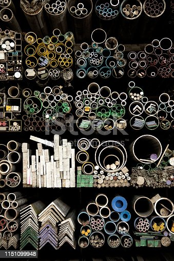 istock various shape industrial steel products of metal profiles and tubes 1151099948