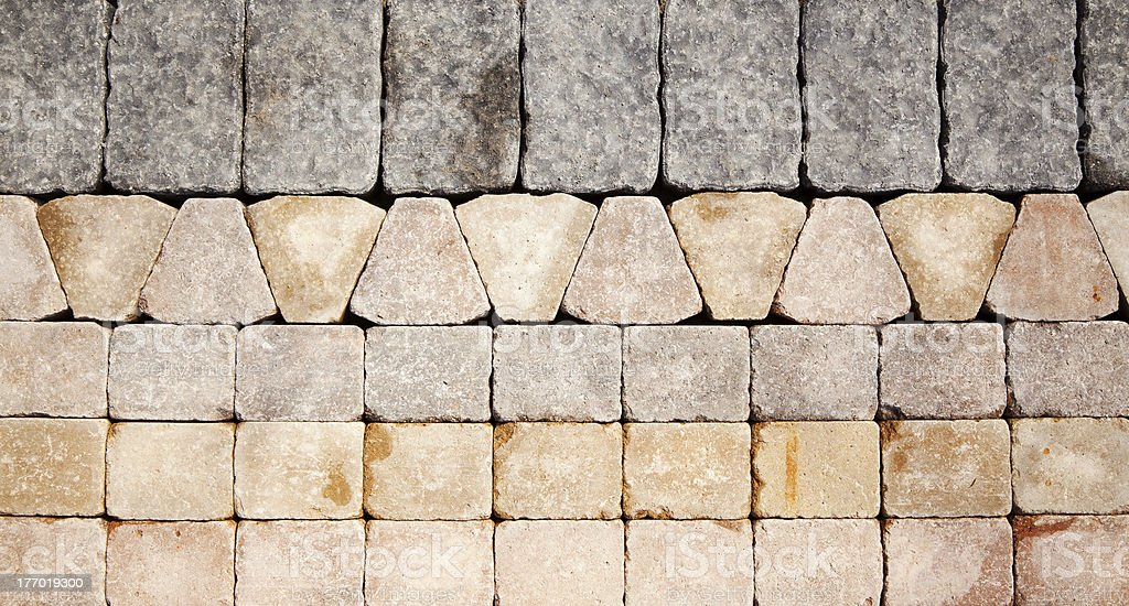 Various Shapes of Paving Stones stock photo
