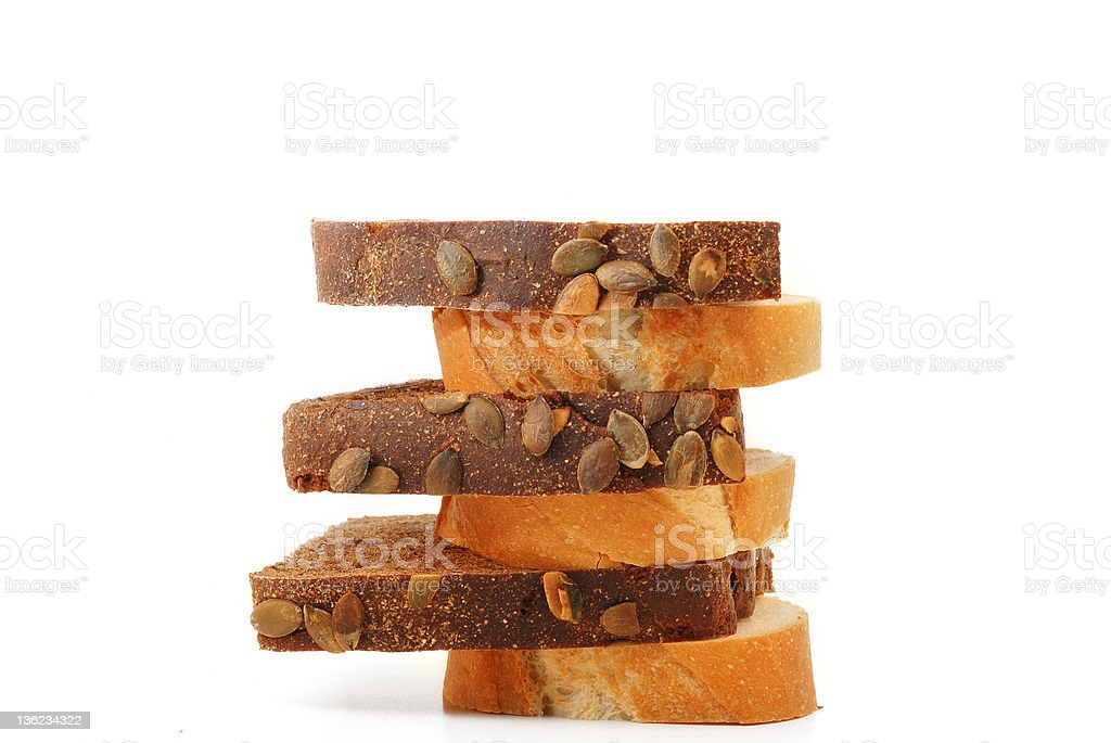 Various sliced bread royalty-free stock photo