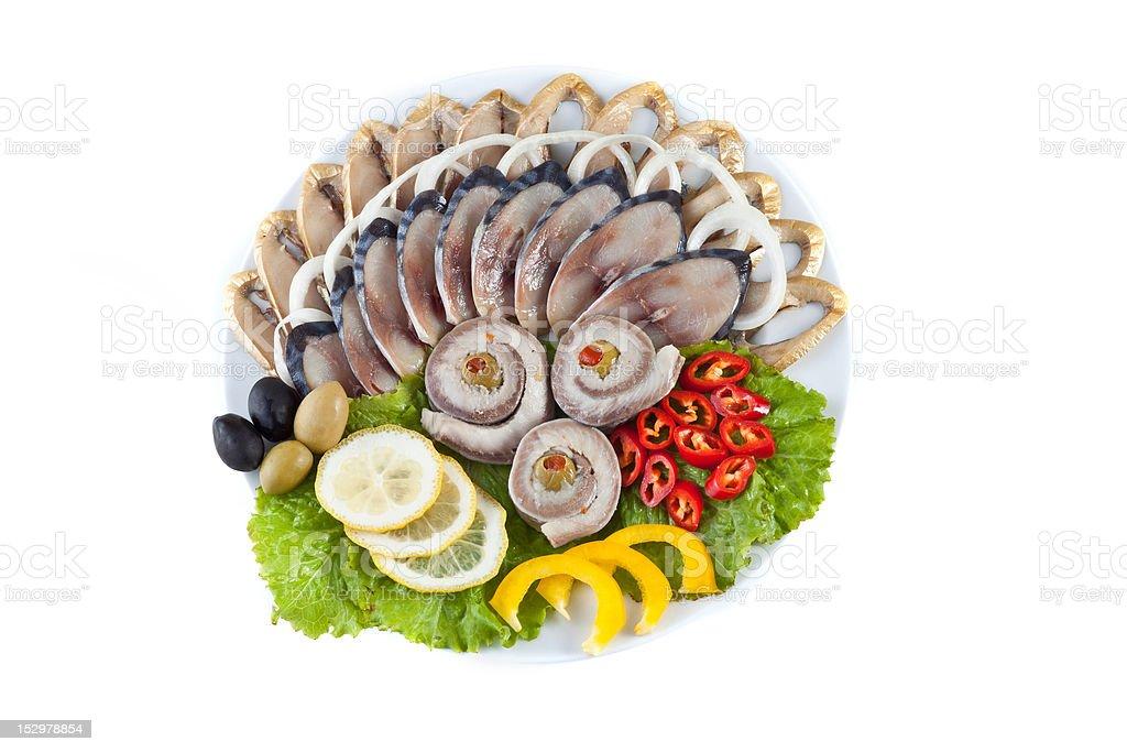 various sliced fish royalty-free stock photo
