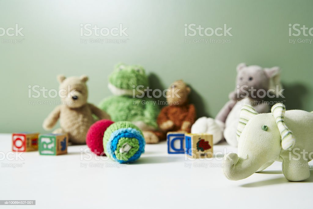 Various soft toys royalty-free stock photo
