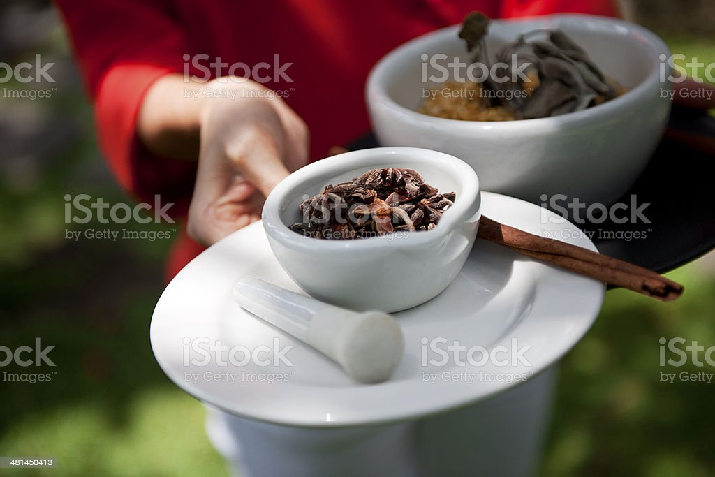 Various spice in bowl royalty-free stock photo