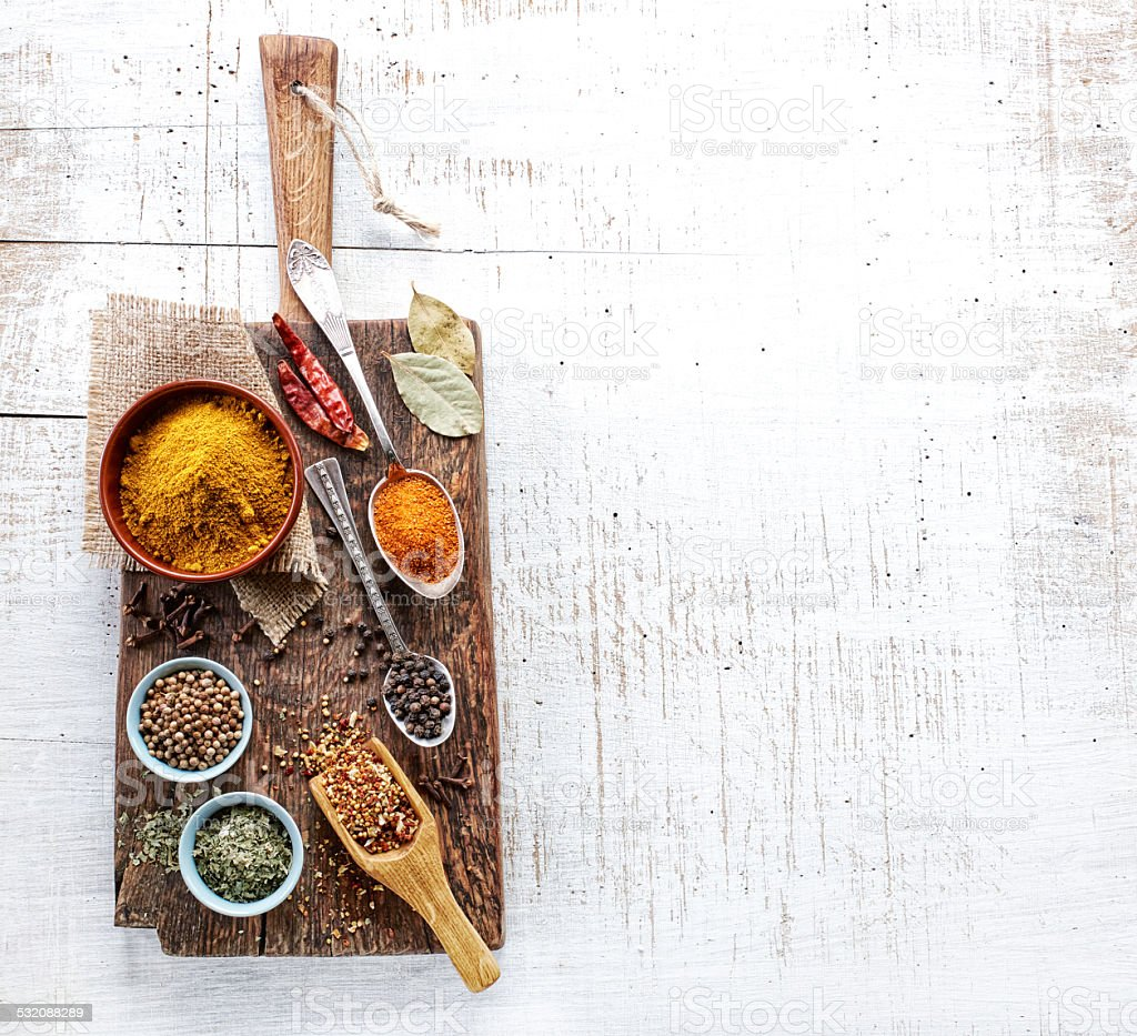 various spices stock photo
