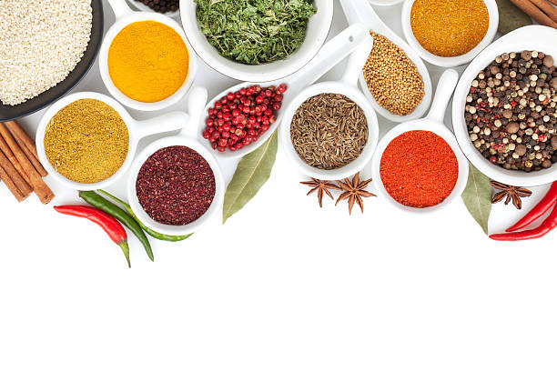 Various spices selection stock photo