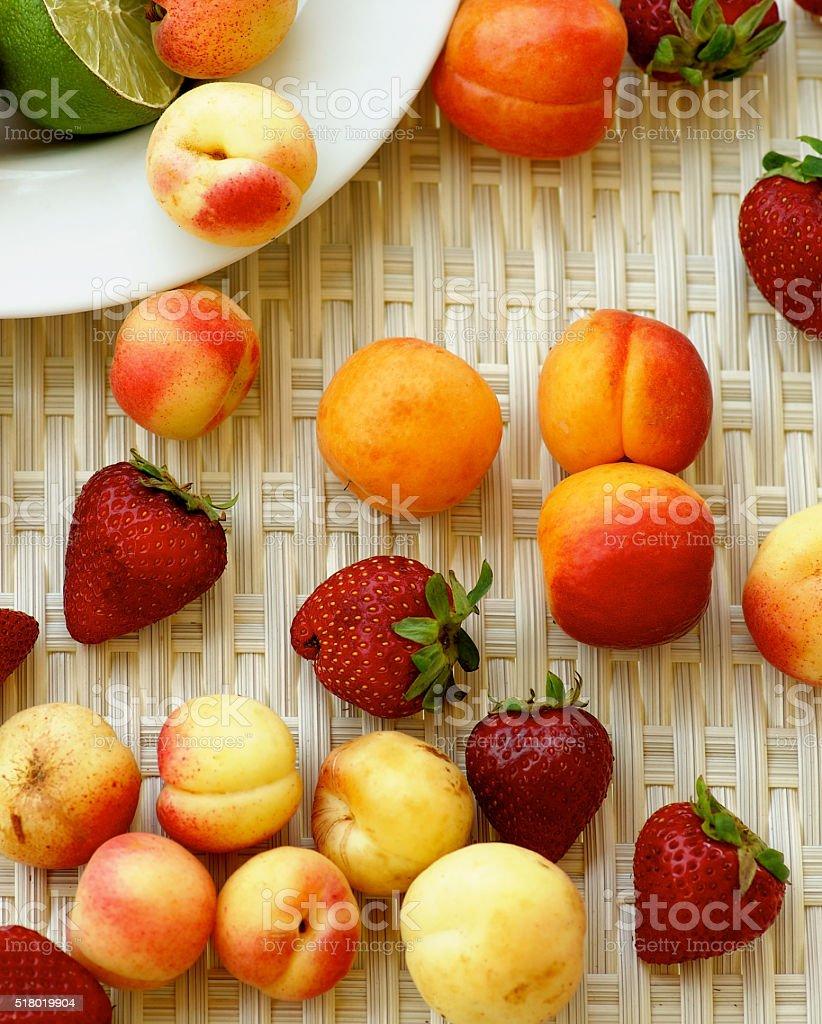 Various Summer Fruits stock photo