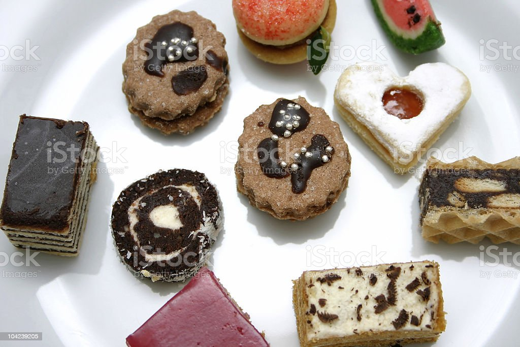 Various Sweets Detail royalty-free stock photo
