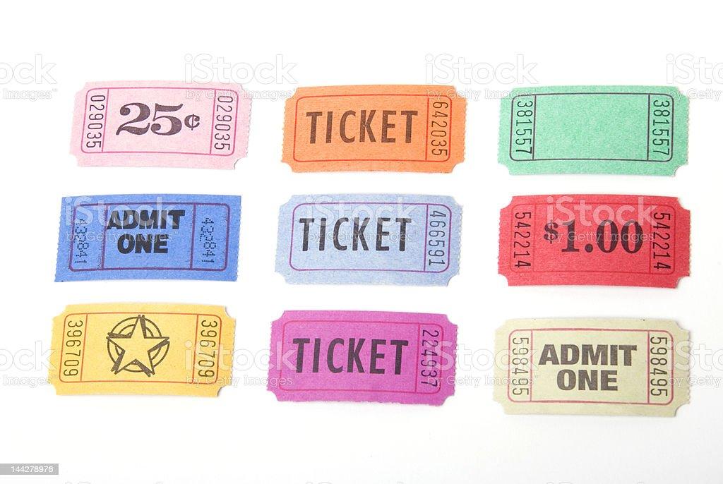 Various tickets stock photo