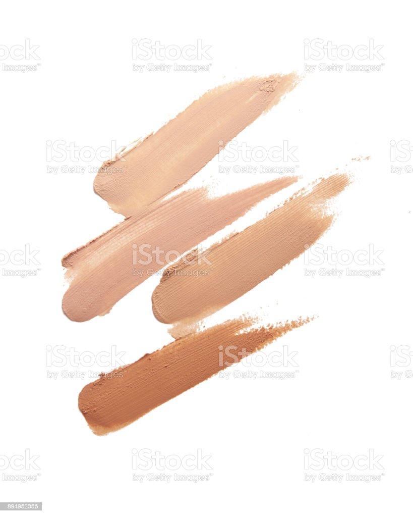 Various tones Make up base paint on background – zdjęcie