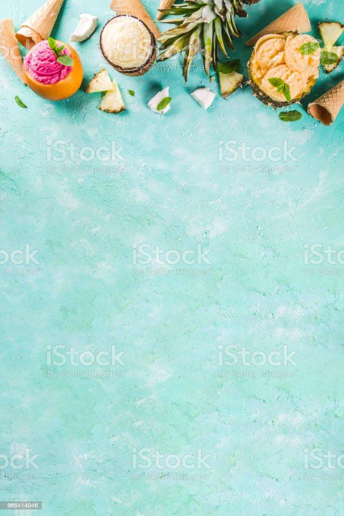 Divers tropical crème glacée sorbet - Photo de Aliment libre de droits