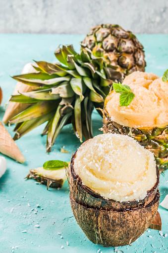 다양 한 열 대 아이스크림 셔 벗 개념에 대한 스톡 사진 및 기타 이미지