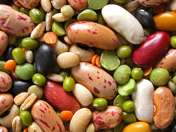 Leguminosas y cereales - foto de stock