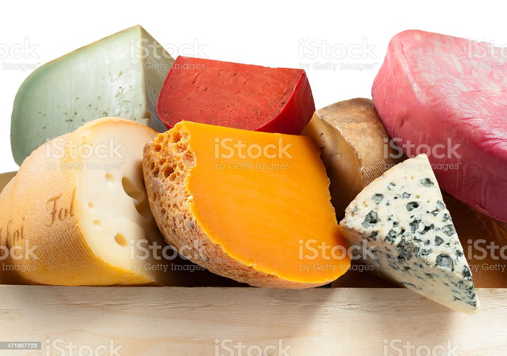 Various types of cheese. composition macro stock photo
